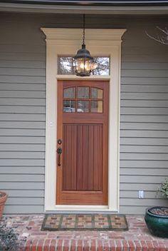 Craftsman Door with s Simple Pediment Possible front door choice for Avon Craftsman Front Doors, Exterior Front Doors, Entrance Doors, Craftsman Style, Modern Craftsman, Craftsman Door Exterior, Garage Doors, Entrance Ideas, Doorway
