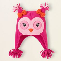 baby girl - outerwear - fleece owl hat | Children's Clothing | Kids Clothes | The Children's Place