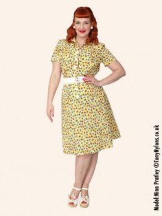 Discover our vintage inspired tea and day dresses. The perfect classic retro look to wear every day, from the office to a party. Day Dresses, Cute Dresses, Wedding Dresses, 1940s Tea Dress, 1940s Fashion, Retro Look, A Line Skirts, Vintage Inspired, Going Out