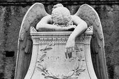 (Black & White) Protestant Cemetary in Rome, Italy - 2008 - Keats & Shelley by champagne!, via Flickr