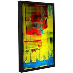 ArtWall Byron May Suspended Gallery-Wrapped Floater-Framed Canvas, Size: 24 x 36, Red