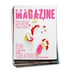 Create your own craft magazine.  :o)