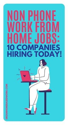 Are you searching for non-phone work from home jobs? As an alternative to home-based phone jobs, you can try non-phone jobs that involve typing, digital services, or even chat-based support. Here are 10 best non-phone work from home jobs to consider getting started with. #onlinejobs #workathome Work From Home Companies, Work From Home Opportunities, Work From Home Jobs, Earn Money Online Fast, Earn Money From Home, Work From Home Typing, Need Cash Now, Home Based Work, Customer Service Jobs