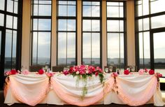 Reception at Stockton Golf & Country Club. Head table - Briggs Photography