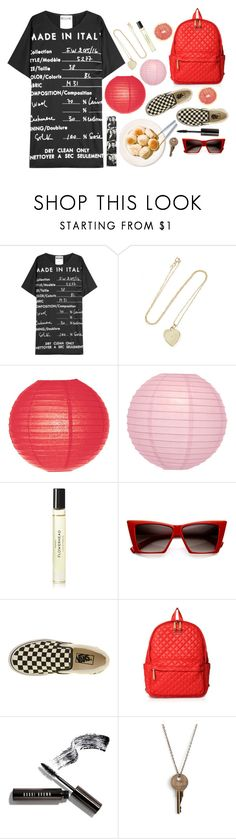 """""""Canal"""" by auntieblazer ❤ liked on Polyvore featuring Moschino, Jennifer Meyer Jewelry, Cultural Intrigue, Byredo, MLC Eyewear, Vans, M Z Wallace, Bobbi Brown Cosmetics and The Giving Keys"""