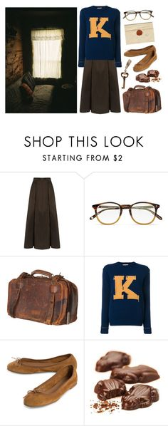 """""""Time to leave"""" by mozart-and-coffee ❤ liked on Polyvore featuring Gloria Coelho, Garrett Leight, Jayson Home, Maison Kitsuné and vintage"""