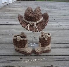 Cowboy Hat Boots Baby Cowboy Photo Prop Newborn Cowgirl Outfit Crochet c0fc1e9ef9c