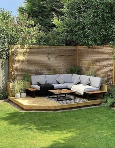 Outdoor Lounge, Outdoor Rooms, Outdoor Gardens, Outdoor Living, Outdoor Decor, Small Garden Landscape, Landscape Design Plans, Backyard Fences, Backyard Landscaping