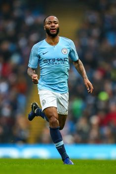 Raheem Sterling of Manchester City during the FA Cup Third Round match between Manchester City and Rotherham United at Etihad Stadium on January 2019 in Manchester, United Kingdom. Get premium, high resolution news photos at Getty Images Football Soccer, Football Players, Sterling Manchester City, Rotherham United, Zen, England Players, Raheem Sterling, English Premier League, Fa Cup