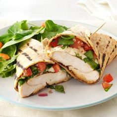 Bruschetta Chicken Wrap