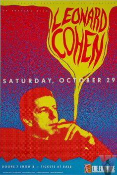 Leonard Cohen concert poster
