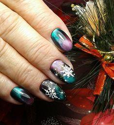 New Year's Nails Art Ideas in 2019 - Page 4 of 14 - Soflyme - seasonal nail art - crismas New Years Nail Designs, New Years Nail Art, Nail Art Designs, Seasonal Nails, Holiday Nails, Christmas Nails, Xmas Nails, Matte Nail Art, Gel Nail Art