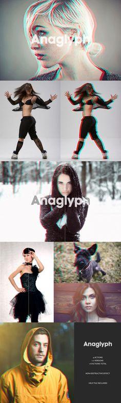 Acción para crear efecto 3d analógico en PS - Check out Anaglyph 3D Action - The Original by beto on Creative Market