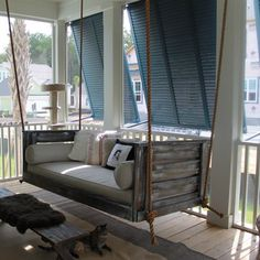 Charleston-based company, Vintage Porch Swings is the nationally established and local favorite brand for bed swings. Vintage Porch Swings bed swings are designed to last for generations. Farmhouse Porch Swings, Porch Bed, Rustic Porch Swings, Farmhouse Decor, Diy Lit, Vintage Porch, Building A Porch, House With Porch, Pallet Ideas