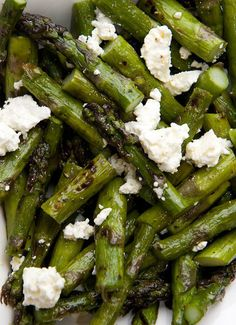 I can not wait to make the grilled asparagus feta salad for my family on Easter they are going to love the mixture of feta with the asparagus!  | once upon a chef