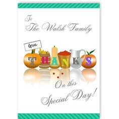 Thanksgiving - QuickClickCards - Your design, your message Personalized Greeting Cards, Your Message, Special Occasion, Place Cards, Thanksgiving, Place Card Holders, Messages, Design, Thanksgiving Tree