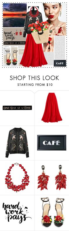 """""""1 Day @ a #time"""" by k-hearts-a ❤ liked on Polyvore featuring Oris, DutchCrafters, Reem Acra, KAROLINA, Sophy Robson, Plumeria Exclusive London, Marni, Charlotte Olympia and Balenciaga"""