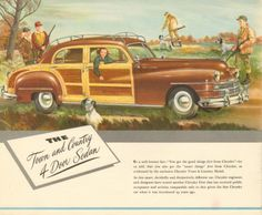 1947 Chrysler sales catalog featuring the Town and Country Four Door