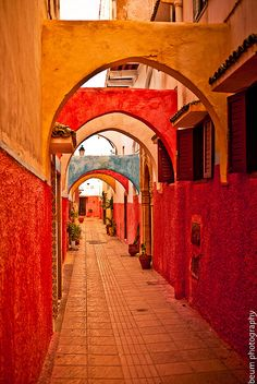Morocco Colorful passageway, the Old Medina - Rabat, Morocco by Beum เบิ้ม Portƒolio on Flickr