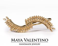 Swarovski Palm Bracelet-14K Gold Palm by MayaValentino on Etsy