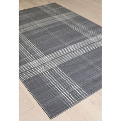 Found it at Wayfair - Broadway Plaid Gray/Ivory Area Rug