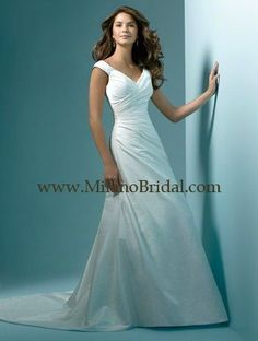 Wedding Dresses, Bridesmaid Dresses, Prom Dresses and Bridal Dresses Alfred Angelo Wedding Dresses - Style 1148 - Alfred Angelo Wedding Dresses: Taffeta, Hug The Shoulder gown with Chapel Train Discontinued V Neck Wedding Dress, Used Wedding Dresses, Wedding Dress Styles, Bridesmaid Dresses, Prom Dresses, Weeding Dress, Dresses 2013, Evening Dresses, Perfect Wedding Dress