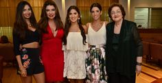 Daniella Meneses, Mireya Tovío, la agasajada, Carolina Meneses y Miriam de Tovío.