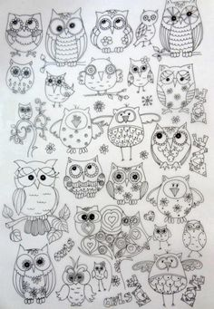 stencils and templates owls.