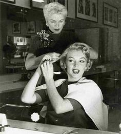"""The way we got her shade of platinum was with my own secret blend of Sparkling Silver bleach plus 20-volume peroxide and a secret formula of silver platinum rinse to take the yellow out."" Gladys Rasmussen, Marilyn Monroe's first studio stylist. (Gladys never fully revealed Monroe's formula when alive and left no records behind.)"