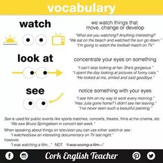 #grammar #esl #elt #learnenglish #studying #watch-see-look at