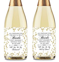 Will You Be My Bridesmaid Wine Labels, Maid of Honor Proposal, Bridesmaid Proposal Wine Label, Bridesmaid Proposal Printable
