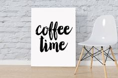 Coffee print Printable wall art It's by SweetPrintTypography