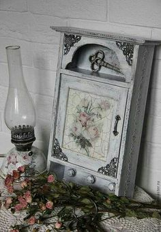 Decoupage key cabinet