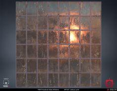 PBR Procedural Industrial Window Material Study, Joshua Lynch on ArtStation at https://www.artstation.com/artwork/oxOwJ