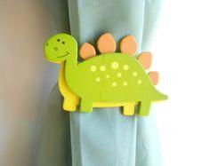 Dinosaur Curtain Tie Backs - Dinosaur Nursery - Baby Girl - Baby Boy - Land Before Time Nursery