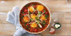 Egg i spicy bønnegryte