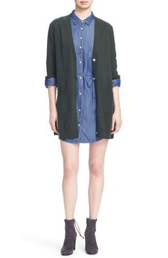 Equipment 'Kathy' Side Slit Wool & Cashmere Cardigan available at #Nordstrom