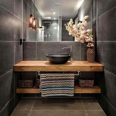 Luxury Bathroom Master Baths Dark Wood is certainly important for your home. Whether you pick the Bathroom Ideas Master Home Decor or Master Bathroom Ideas Decor Luxury, you will create the best Luxury Bathroom Master Baths Paint Colors for your own life. Bathroom Renos, Bathroom Remodeling, Remodeling Ideas, Bathroom Ideas, Master Bathroom, Master Baths, Bathroom Grey, Budget Bathroom, Basement Bathroom