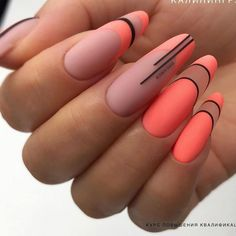The French nail styles that were sorted out a few days ago were more formal, and the overall design is … Shellac Nail Art, Best Acrylic Nails, Acrylic Nail Art, Gel Nails, Matte Nails, Chic Nails, Dope Nails, Stylish Nails, Swag Nails