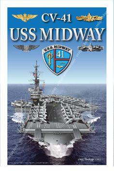 CV-41 USS Midway forward