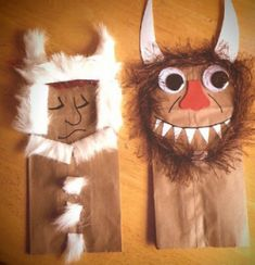 Where the Wild Things Are paper bag puppets. Monster puppets might be just the thing for the kids' school Halloween parties! Art For Kids, Crafts For Kids, Arts And Crafts, Kid Art, Polka Dot Birthday, Paper Bag Puppets, Art Plastique, Elementary Art, Book Crafts