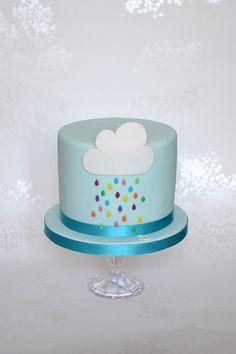 Rain Cloud Birthday Cake