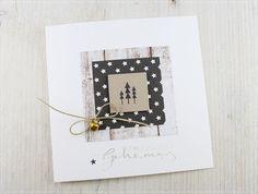 Ein paar Weihnachtskarten habe ich heute für euch, dabei ist mal wieder das Stempelset von Pinkfresh Studio zum Einsatz gekommen, wie ...