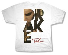 "DRAKE ""SMOKE LETTERS"" TAKE CARE WHT SLIM FIT T-SHIRT RAPPER NEW OFFICIAL ADULT"