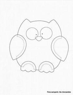 Printable Owl Pattern Template cakepins.com