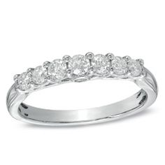 Diamond Seven Stone Ring in White Gold