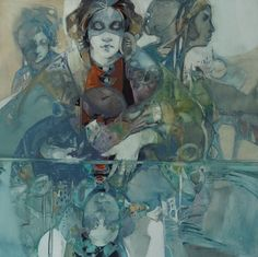 Oh  I love this Carla O'Connor, Still Water 2015, water color