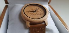 Cycle addict bamboo bicycle watch. Miyota quartz mechanism, FSC certified bamboo and genuine leather: a stunning combination creating a unique accessory for passionate cyclists!  Can be personalized and comes with a free bicycle bracelet with this watch!