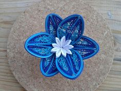 Quilling by Branka Miletić - one flower, yet so much detail.