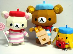 San-X: DIY papercrafts to download and do. Relax Bear!